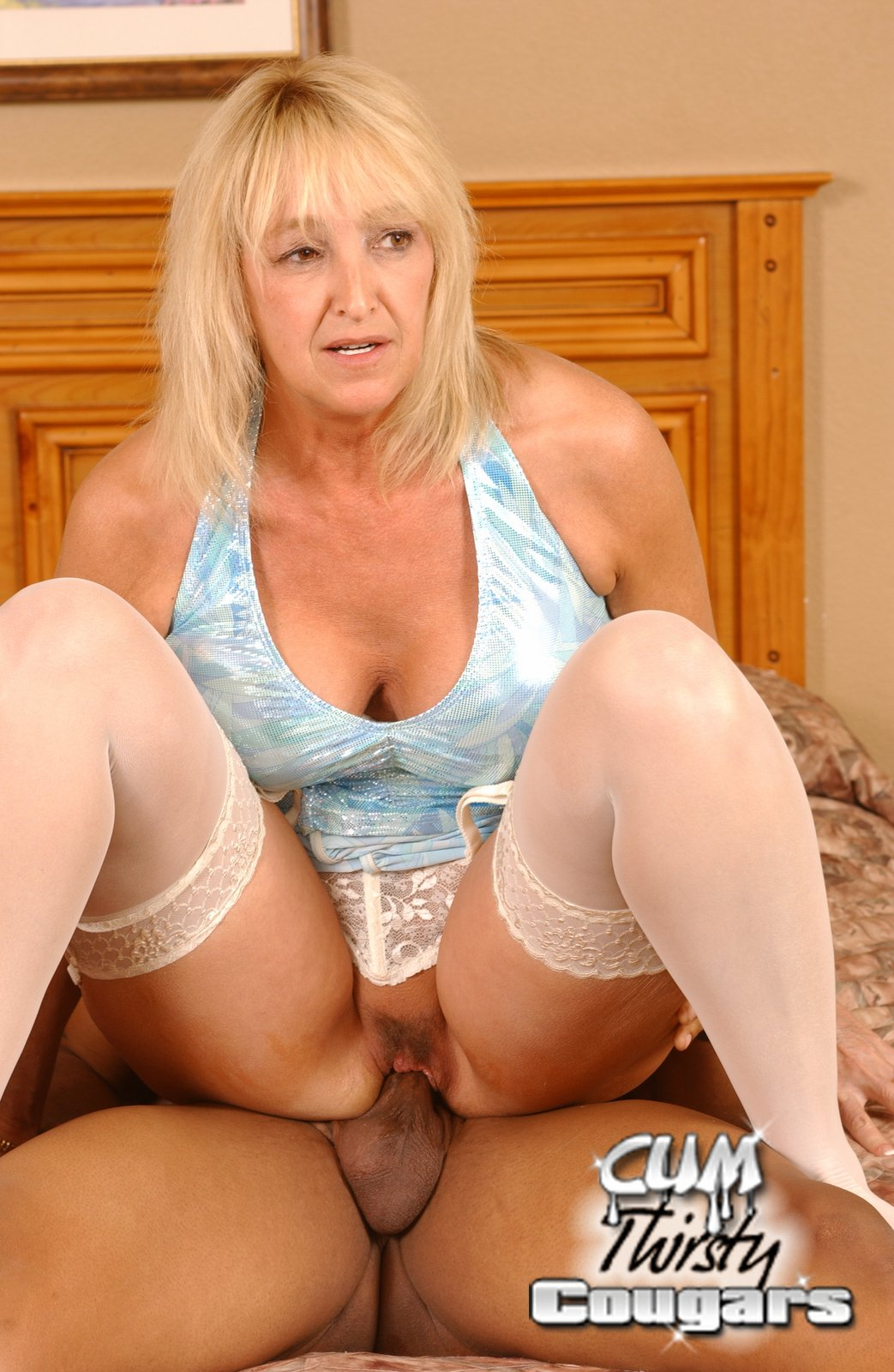 Milf with fake tits